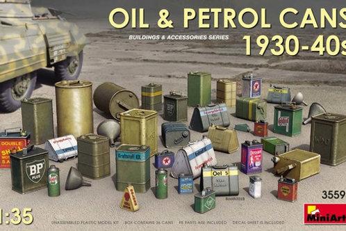 35595 MiniArt 1/35 Канистры для масла и горючего 1930-1940-х годов, Oil cans