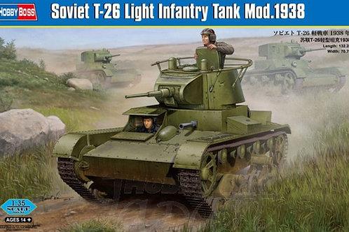 Советский танк Т-26 мод. 1938 года - Hobby Boss 82497 1:35