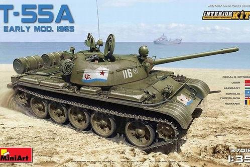 Танк Т-55А ранний обр. 1965 г. с интерьером, сборная модель - MiniArt 37016 1/35