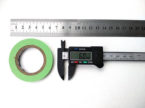 0,6 см Маскировочная лента, зеленый цвет, скотч модельный, ширина 6 мм