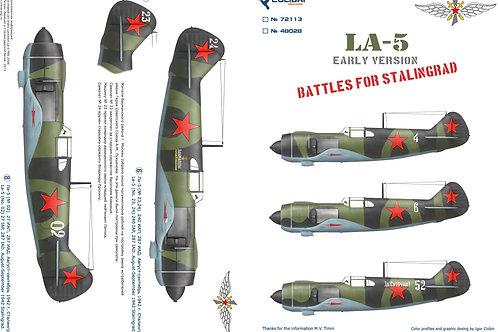 48028 Colibri Decals 1/48 Декали Ла-5 ранний выпуск, битва за Сталинград