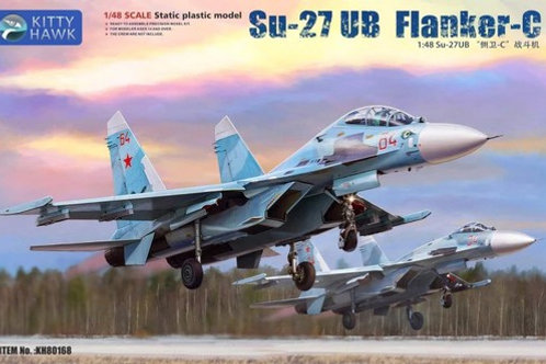 (в пути) Российский самолет Су-27УБ Flanker-C - Kitty Hawk 1:48 KH80168