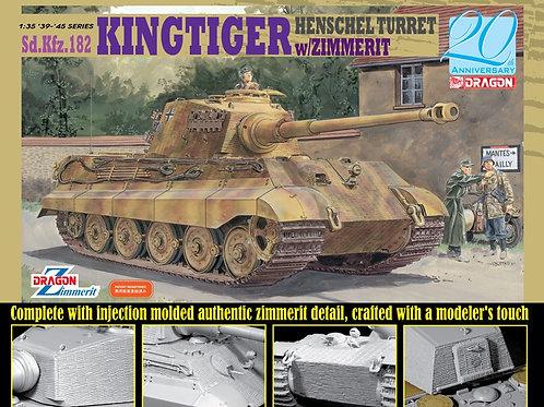 (в пути) King Tiger Henschel Turret w/Zimmerit ПОЛНЫЙ ФАРШ - Dragon 6303 1:35
