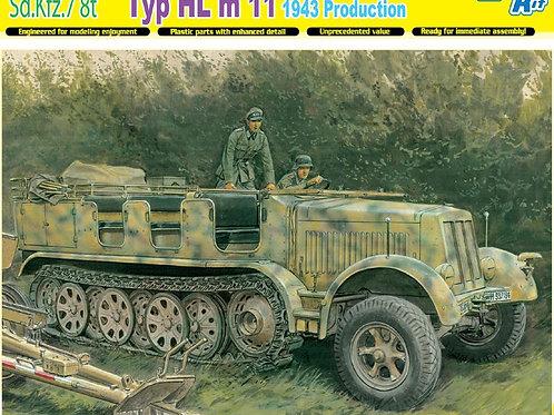 Немецкий тягач Sd.Kfz.7 8(t) Typ HL m 11, выпуск 1943 года - Dragon 1:35 6794