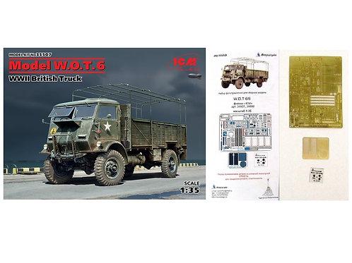 * КОМБО 2в1 * 35507 ICM 1/35 Грузовик Model W.O.T. 6 + травло Микродизайн 035349