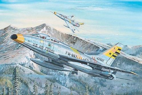 Американский самолет F-100F Super Sabre, Супер Сейбр - Trumpeter 1:32 02246