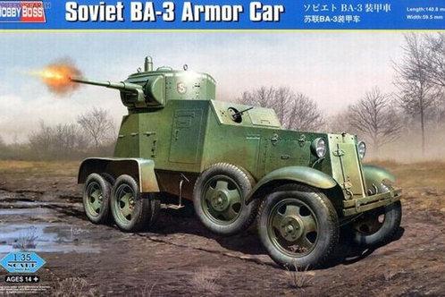 Советский бронеавтомобиль БА-3 - Hobby Boss 83838 1:35