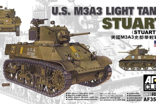 Танк Стюарт U.S. M3A3 Light Tank Stuart (Stuart V) - AFV Club 1:35 AF35053