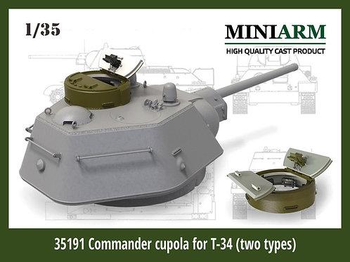 Miniarm B35191 Командирские башенки для Т-34 (2 вида: литая, сварная) 1:35 35191