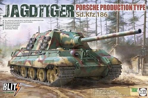 Ягдтигр Порше Sd.Kfz. 186 JagdTiger Porsche Production type - Takom 1:35 8003