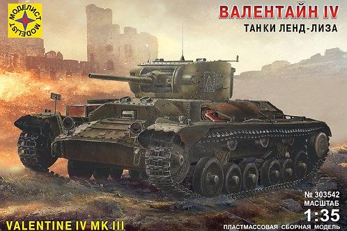 Танк Валентайн Valentine IV Mk III (Англия), 1940 г. - Моделист 303542 1:35