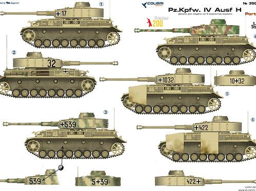 35038 Colibri Decals 1/35 Декали Pz.Kpfw.IV Ausf.Н, часть 1 (1943-1944 гг.)