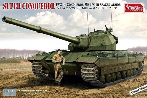 Британский танк Super Conqueror с доп броней - Amusing Hobby 35A013 1/35