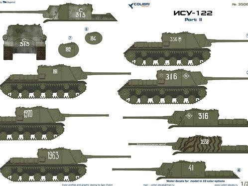 35066 Colibri Decals 1/35 Декали для советской самоходки СУ-122, часть 2