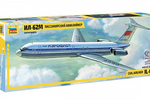 Советский пассажирский авиалайнер Ил-62М - Звезда 7013 1/144