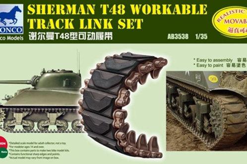 Рабочие траки M4 Sherman Тип Т48, пластик - Bronco 1/35 AB3538