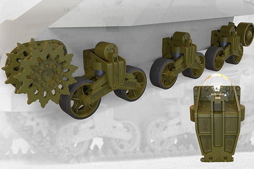 35037 Fury Models Подвеска М3 Ли/Грант US tank M3 Lee/Grant suspension (MINIARM)