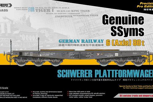 Немецкая платформа тип SSyms 6-осная 80 тонн - SABRE Model 1:35 35A05