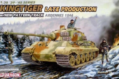 King Tiger Late Production Ardennes 1944 with new pattren track Dragon 6232 1:35