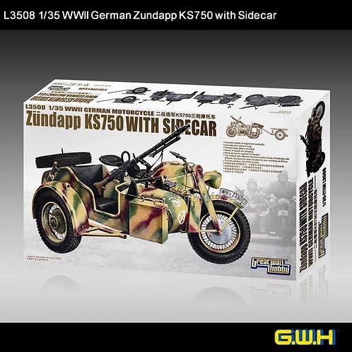 Немецкий мотоцикл Zündapp KS750 with Sidecar - Great Wall Hobby 1:35 L3508