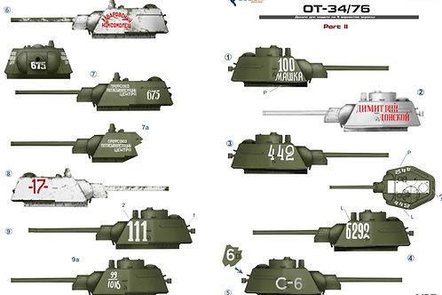 (под заказ) 35049 Colibri Decals 1/35 Декали огнеметный танк ОТ-34/76, часть 2
