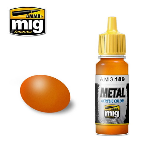 Ammo Mig AMIG-0189 METALLIC ORANGE металлик оранжевый 17 мл