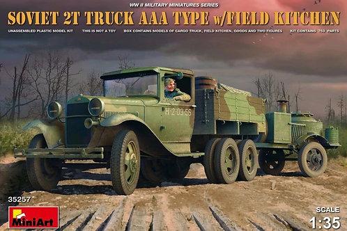 Советский грузовик ААА с полевой кухней - MiniArt 35257 1/35