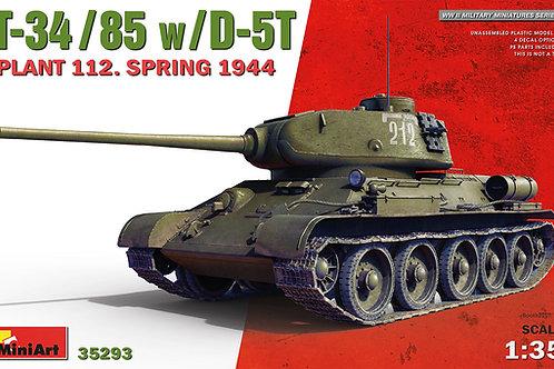 Советский танк Т-34/85, завод №112, весна 1944 года - MiniArt 35293 1/35