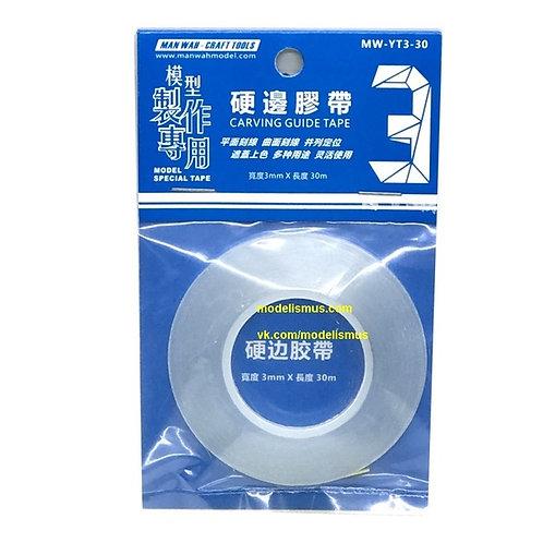 Прозрачная лента для восстановления расшивки 3 мм * 30 м - Manwah MW-YT3-30