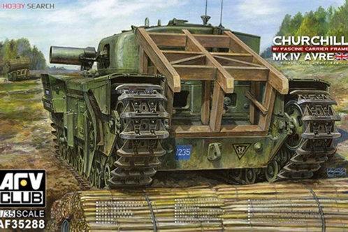 (под заказ) Churchill Mk.IV AVRE w/Fascine Carrier Frame - AFV Club 1:35 AF35288