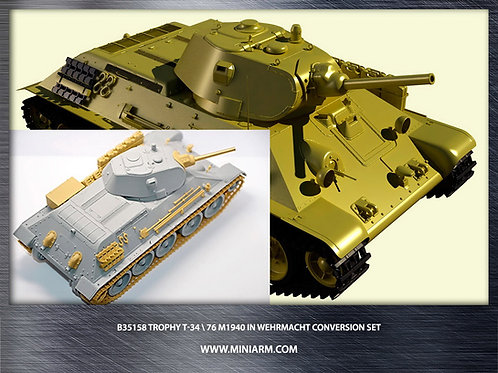 MINIARM 35158 Трофейный танк Т-34-76 мод. 1940 года, конверсия - b35158 1:35