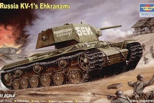 Советский танк КВ-1 с экранами - Trumpeter 00357 1:35