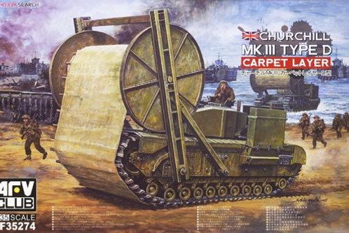 Churchill Mk.III Type D Carpet Layer - AFV Club 1:35 AF35274