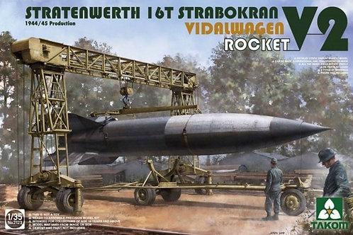 Stratenwerth 16T Strabokran Vidalwagen V2 Rocket - Takom 1:35 2123