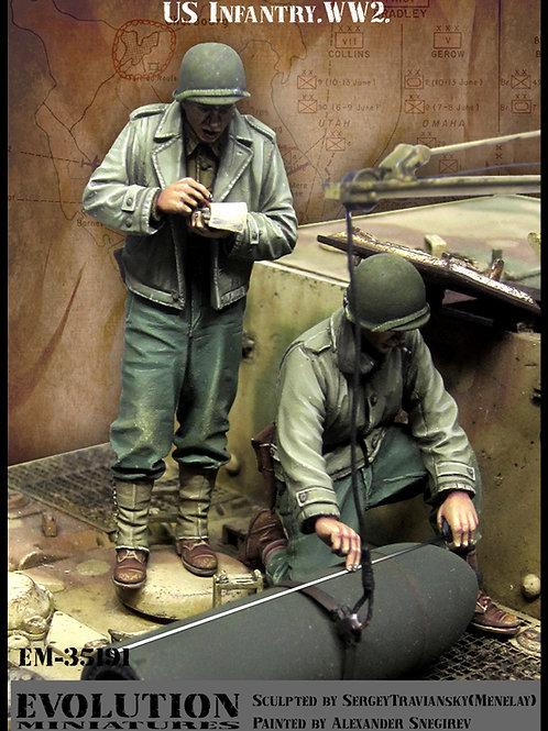 Evolution Miniatures 1/35 EM-35191 - Два американских солдата 2МВ