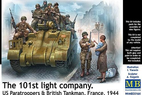 101-я легкая рота, союзники, Франция 1944 - Master Box MB35164 1/35