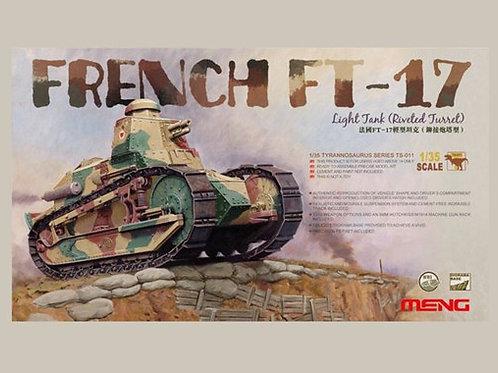 (под заказ) Французский танк FT-17, башня с заклепками - Meng Model TS-011 1/35
