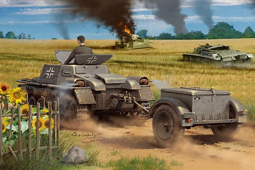 Транспорт Munitionsschlepper auf Pz.I Ausf.A с прицепом - Hobby Boss 1:35 80146