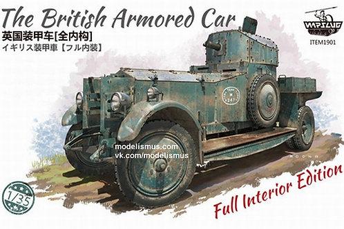 (под заказ) Британский броневик 1МВ с полным интерьером - Warslug X 1/35
