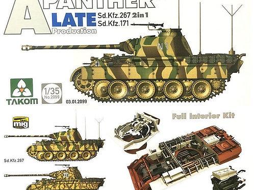 (под заказ) 2099 TAKOM Немецкий танк Пантера А поздняя, полный интерьер - 1/35