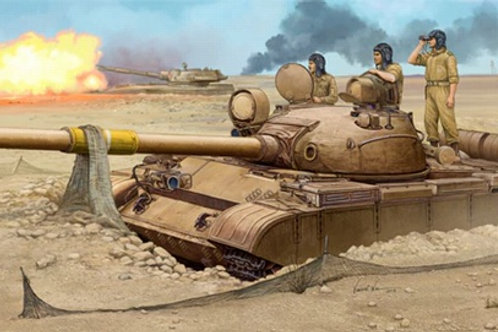 Советский танк Т-62 мод.1962 года (армия Ирака) - Trumpeter 1:35 01548
