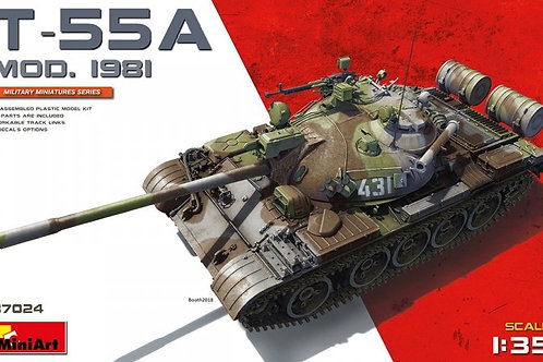 Танк Т-55А образца 1981 года, без интерьера - MiniArt 1:35 37024