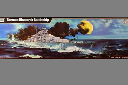 "Немецкий линкор ""Бисмарк"" German Bismarck 1941 - Trumpeter 1:200 03702"