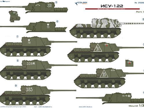 35060 Colibri Decals 1/35 Декали самоходка ИСУ-122, часть 1