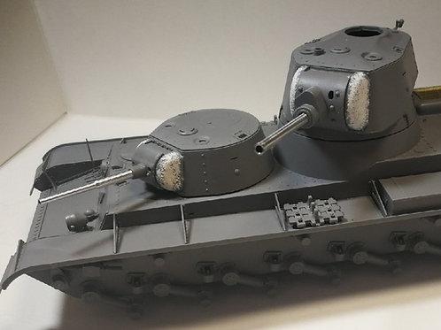 Model Gun MG-3506 Комплект СМК (2 ствола): 45-мм 20К + 76-мм Л-11 - 1:35