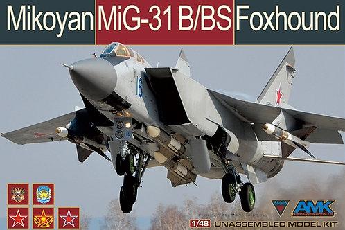 (под заказ) Самолет МиГ-31 Б/БС Foxhound - AMK 1:48 88008