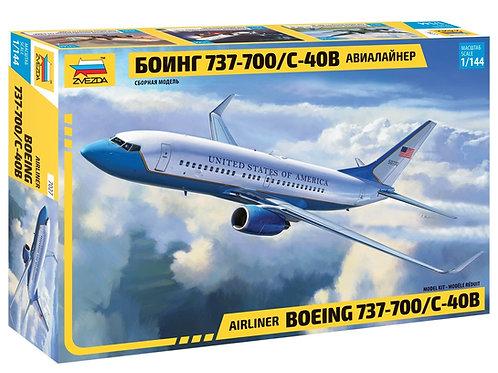 Самолет Боинг 737-700 - Звезда 7027 1/144