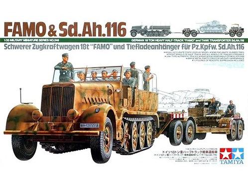 Немецкий тягач FAMO 18 тонн и полуприцеп - Tamiya 1:35 35246