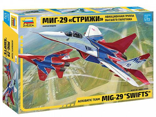 """7310 Звезда 1/72 МиГ-29 """"Стрижи"""" авиационная группа высшего пилотажа"""