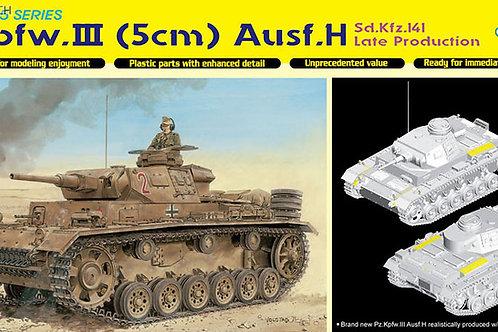 Pz.Kpfw.III Ausf.H Late с 50-мм пушкой - Dragon 6642 1:35 (DS траки)